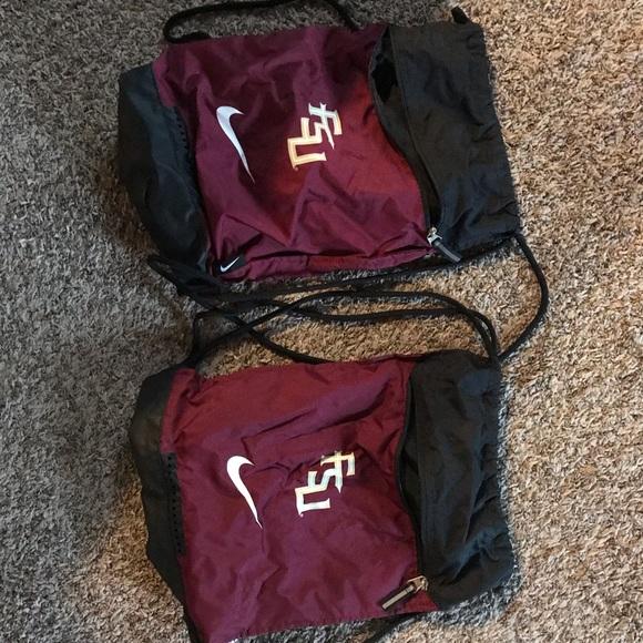 Nike Other - Matching FSU Florida State drawstring backpacks